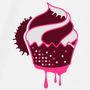 A graffiti cupcake with drops Accessories - Men's Premium T-Shirt