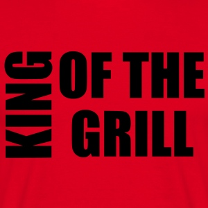 king of the grill Forklæder - Herre-T-shirt