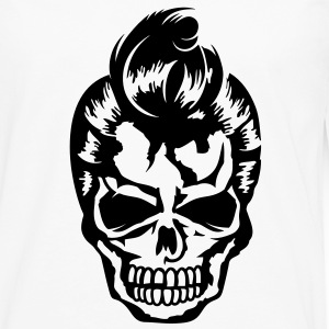 A skull with a rockabilly haircut T-Shirts - Men's Premium Longsleeve Shirt
