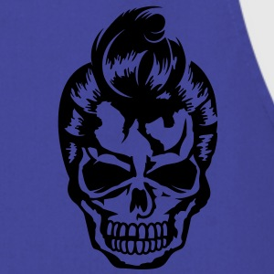 A skull with a rockabilly haircut Jackets & Vests - Keukenschort
