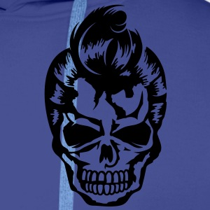 A skull with a rockabilly haircut Jackets & Vests - Mannen Premium hoodie
