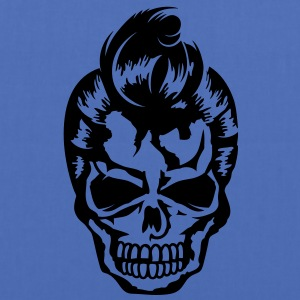 A skull with a rockabilly haircut Jackets & Vests - Tas van stof