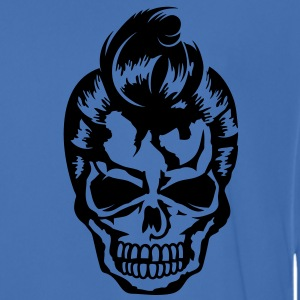 A skull with a rockabilly haircut Jackets & Vests - Men's Football Jersey