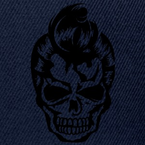 A skull with a rockabilly haircut Jackets & Vests - Snapback cap