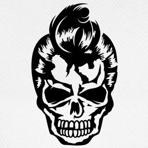 A skull with a rockabilly haircut Long sleeve shirts - Baseball Cap