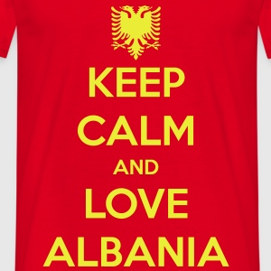 KEEP CALM AND LOVE ALBANIA Gensere - T-skjorte for menn
