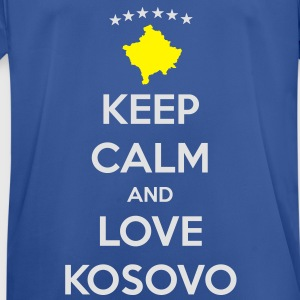 KEEP CALM AND LOVE KOSOVO Hoodies & Sweatshirts - Men's Breathable T-Shirt