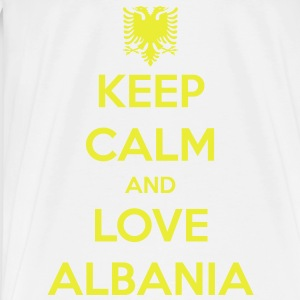 KEEP CALM AND LOVE ALBANIA Tröjor - Premium-T-shirt herr