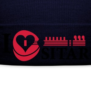 i_love_sitar_2c_hr Hoodies & Sweatshirts - Winter Hat
