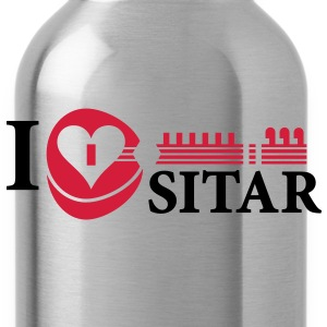 i_love_sitar_2c_hr Hoodies & Sweatshirts - Water Bottle