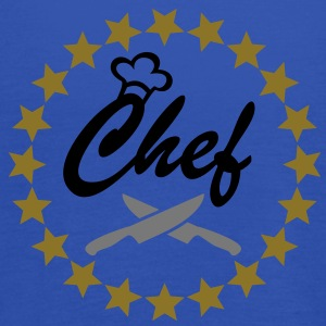 Chef with Chef´s hat and kitchen knifes. kucharz Fartuchy - Tank top damski Bella