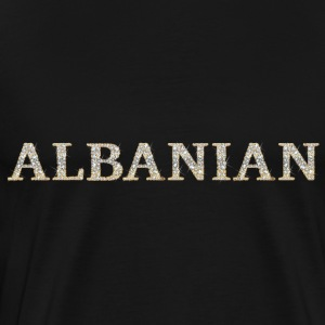 ALBANIAN (diamonds effect) #02 Tröjor - Premium-T-shirt herr