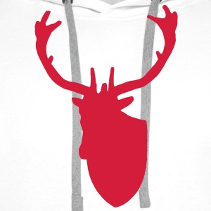 Stag Deer Head Taxidermy - Men's Premium Hoodie
