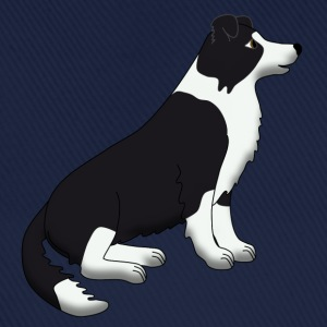 Border Collie black and white Torby - Czapka z daszkiem