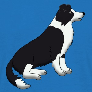 Border Collie black and white Bags  - Men's T-Shirt