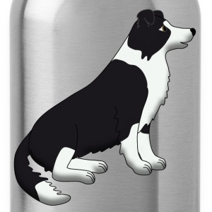 Border Collie black and white Sweatshirts - Drikkeflaske