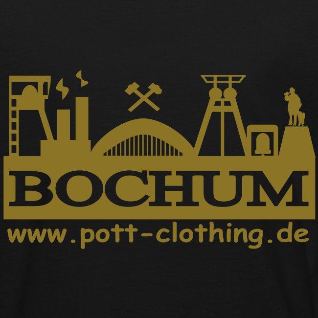 Skyline Bochum - Tief im Westen by Ruhrpott Clothing (Gold)