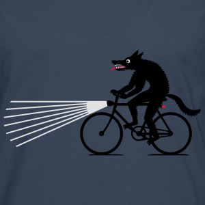 Navy Wolf with bike Hoodies & Sweatshirts - Men's Premium Longsleeve Shirt