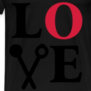 Cooking is Love. Chef Cook Kitchen  Aprons - Men's Premium T-Shirt