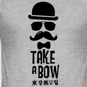 Like a swag bow tie moustache style boss t-shirts Sweaters - slim fit T-shirt