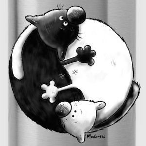 Black and White - Yin Yang - Gatti Felpe - Borraccia
