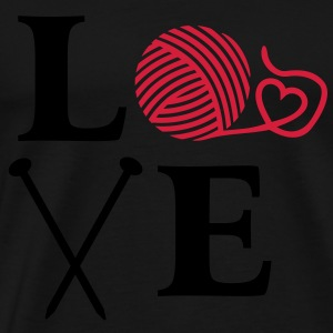 I love knitting. Wool with knitting needles. Hoodies & Sweatshirts - Men's Premium T-Shirt