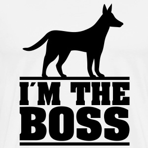 I am the boss! * Logo for dog owners. Dogs Hoodies & Sweatshirts - Men's Premium T-Shirt