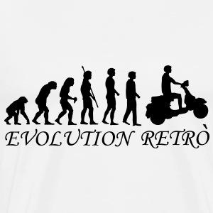 evolution_biker_retrò_g1  Aprons - Men's Premium T-Shirt