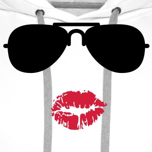 Sunglasses and Kisses T-Shirts - Premium hettegenser for menn