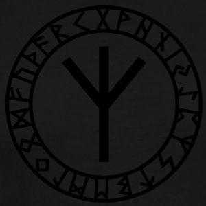 Algiz rune I rune of higher vibrations I 1c I Sweatshirts - Herre premium T-shirt
