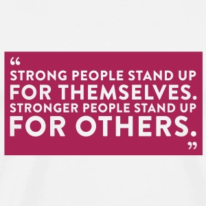 Quote Strong People (1c)++2012 Tröjor - Premium-T-shirt herr