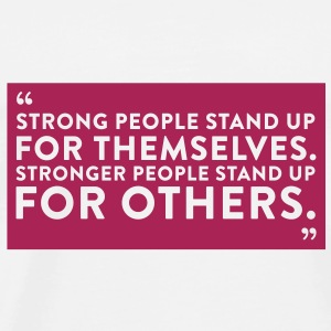 Quote Strong People (1c)++2012 Tasker - Herre premium T-shirt