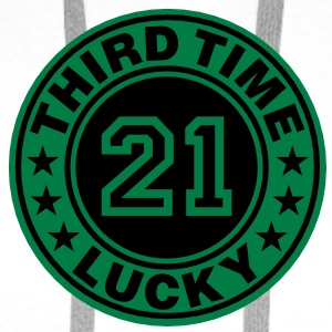 Trisomy 21 | third time lucky T-Shirts - Men's Premium Hoodie