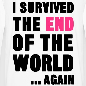 I Survived the End of the World Gensere - Premium langermet T-skjorte for menn