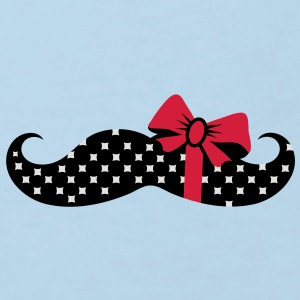 A mustache with a gift ribbon Bags  - Kids' Organic T-shirt