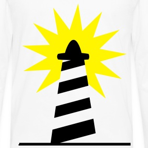 Lighthouse bright sunlight 2c Shirts - Men's Premium Longsleeve Shirt