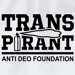 TRANSPIRANT - ANTI DEO FOUNDATION Fun T-Shirt BW - Gymtas