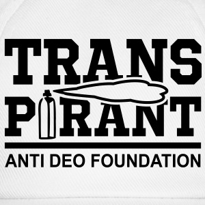 TRANSPIRANT - ANTI DEO FOUNDATION Fun T-Shirt BW - Cappello con visiera