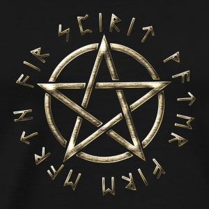 Runic Pentacle, pentagram, protection, runes Hoodies & Sweatshirts - Men's Premium T-Shirt
