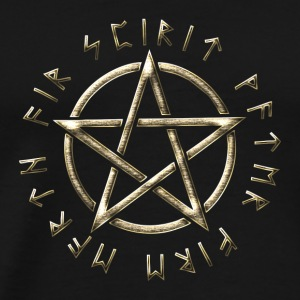 Runes pentagram, pentacle, protection, paganism Gensere - Premium T-skjorte for menn