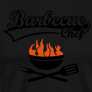 Maître Barbecue Grill Chef Griller BBC Tabliers - T-shirt Premium Homme