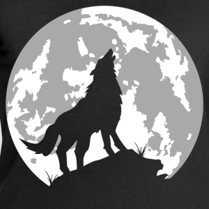 wolf full moon T-Shirts - Men's Sweatshirt by Stanley & Stella