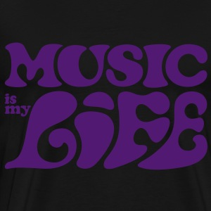 Music is my life. Muziek is mijn leven. Sweaters - Mannen Premium T-shirt