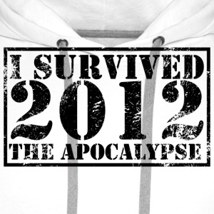 T-Shirt I survived the Apocalypse 2012 - Sweat-shirt à capuche Premium pour hommes