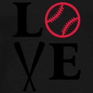 I love baseball. baseball ball  bat bats game  Bags  - Men's Premium T-Shirt
