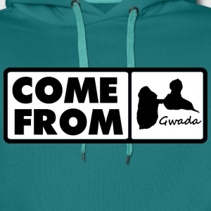 maquette-come-from-gwada.png Tee shirts - Sweat-shirt à capuche Premium pour hommes