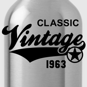 Classic Vintage 1963 Birthday Geburtstag 50th T-Sh - Water Bottle