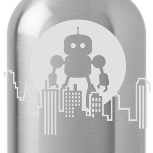 Robot City Skyline Shirts - Water Bottle