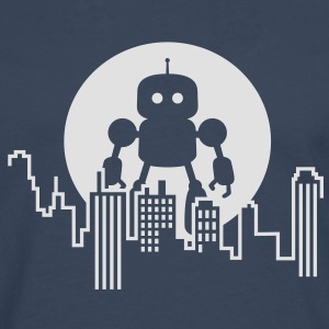 Robot City Skyline Shirts - Men's Premium Longsleeve Shirt