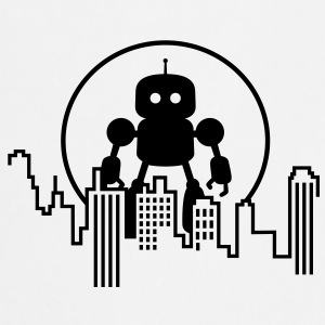 Robot City Skyline T-shirts - Forklæde